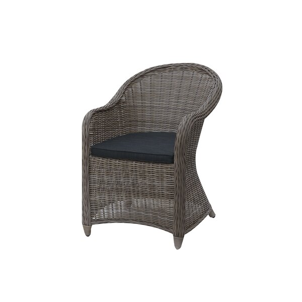 Daniella Patio Dining Chair with Cushion by Rosecliff Heights Rosecliff Heights