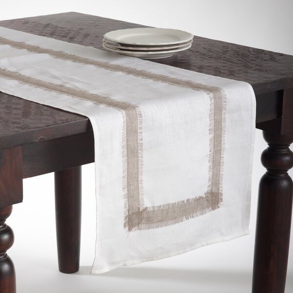 Martinique Banded Design Table Runner by Saro