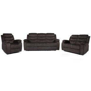 Bidal 3 Piece Reclining Living Room Set (Set of 3) by Latitude Run®