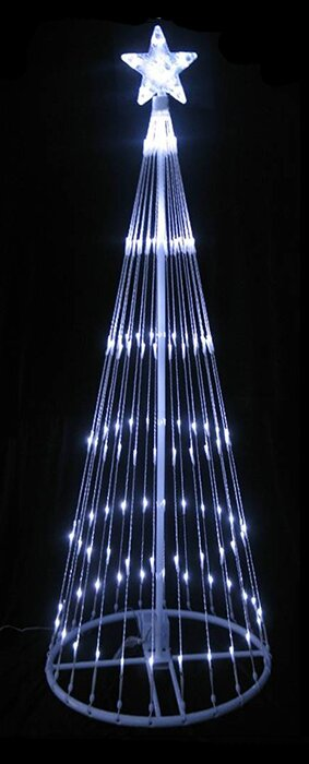 led light show cone christmas tree lighted yard art decoration - Christmas Tree Led Lights
