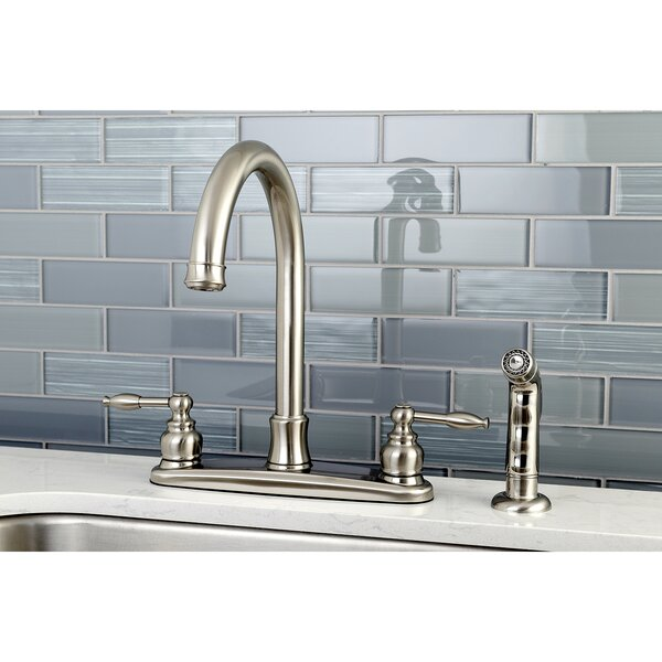 Knight Touch Double Handle Kitchen Faucet with Side Spray by Kingston Brass