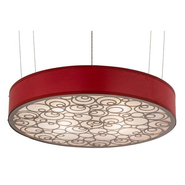 Greenbriar 4 - Light Unique / Statement Drum Chandelier By Meyda Tiffany