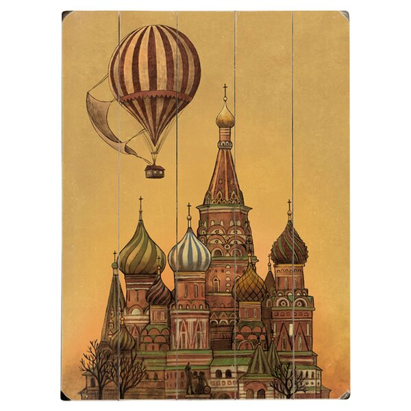 Moving to Moscow Graphic Art Print Multi-Piece Image on Wood by Artehouse LLC
