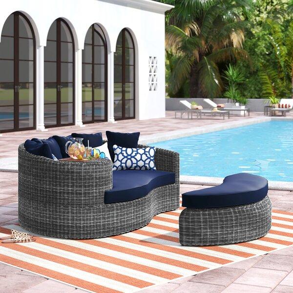 Keiran Patio Daybed with Cushions by Brayden Studio Brayden Studio