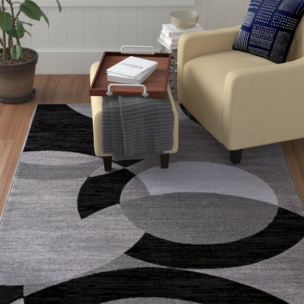 Symone Gray Area Rug by Winston Porter