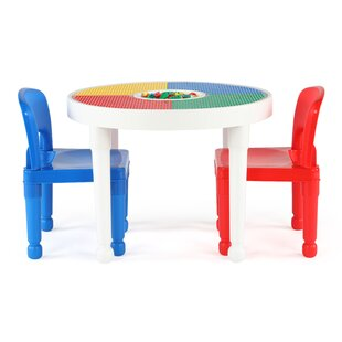 Read Reviews Kids 3 Piece Round Table and Chair Set ByTot Tutors