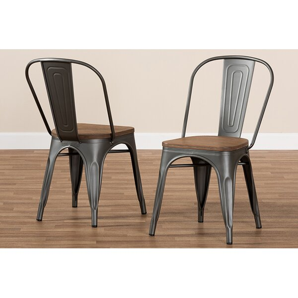 Mauer Stackable Dining Chair (Set of 2) by Williston Forge Williston Forge