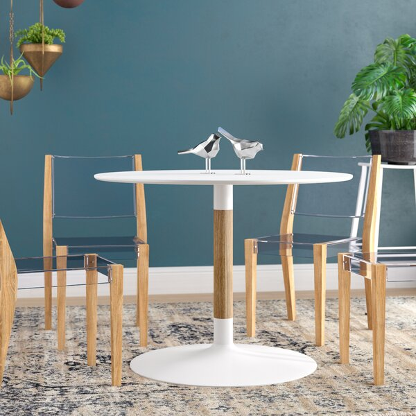 Collett Whirl Round Dining Table by Wrought Studio