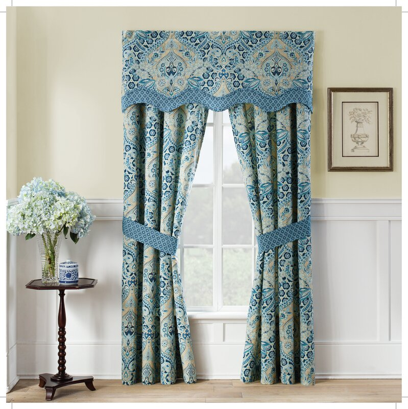 Waverly Moonlit Shadows Wave Window Curtain Valance