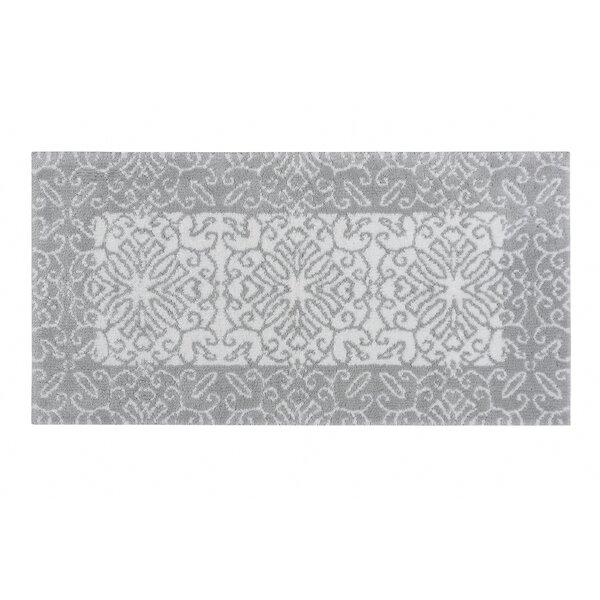Asya Rectangle 100% Cotton Non-Slip Bath Rug