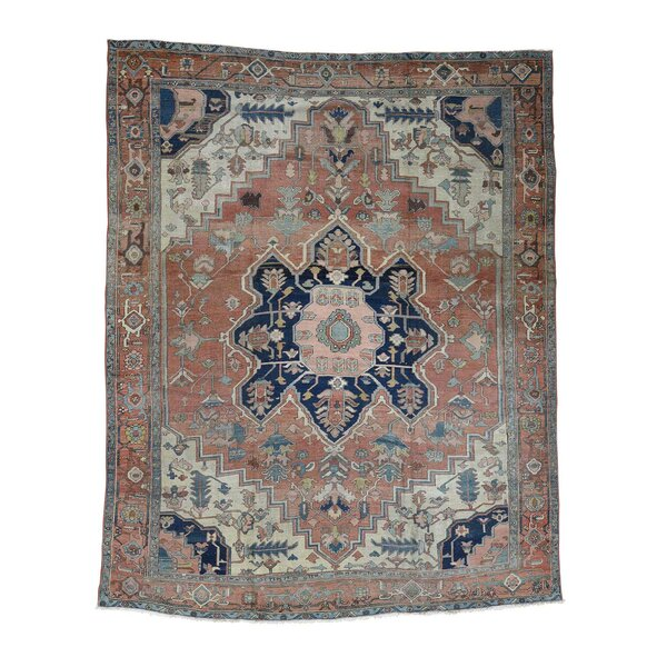 One-of-a-Kind Cali Hand-Knotted Brown/Blue 10'1 x 12'1 Wool Area Rug