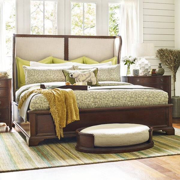 Upstate Shelter Upholstered Sleigh Bed by Rachael Ray Home