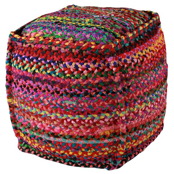 Zephra Brilliant Ribbon Pouf by Bungalow Rose