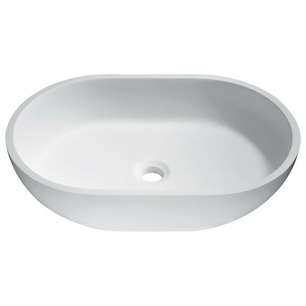 Idle Stone Oval Vessel Bathroom Sink by ANZZI