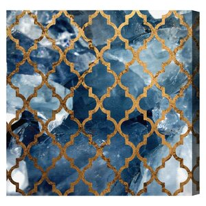 Arabesque Bronze Graphic Art on Wrapped Canvas by Mercer41