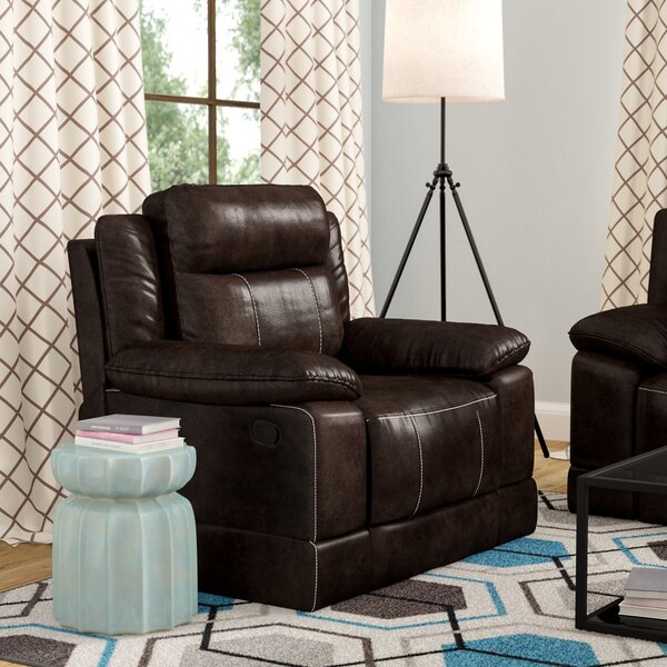 Rindham Leather Manual Rocker Recliner [Red Barrel Studio]