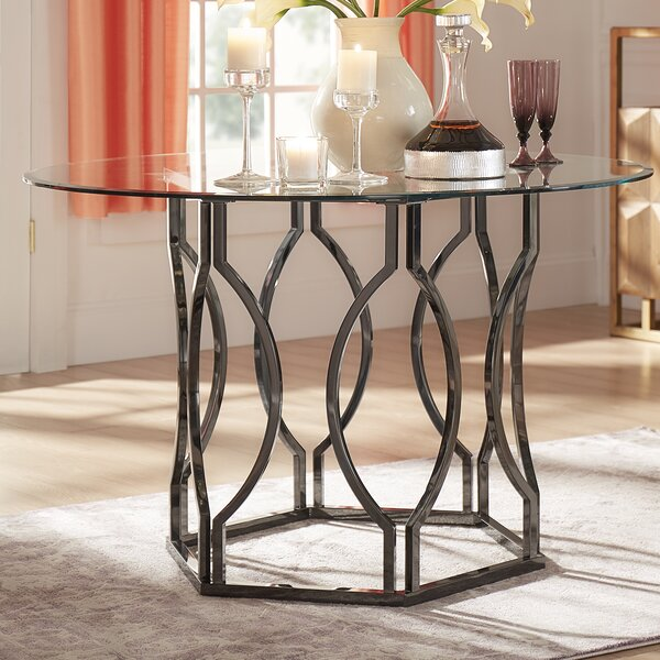 Affric Glass Dining Table by Willa Arlo Interiors