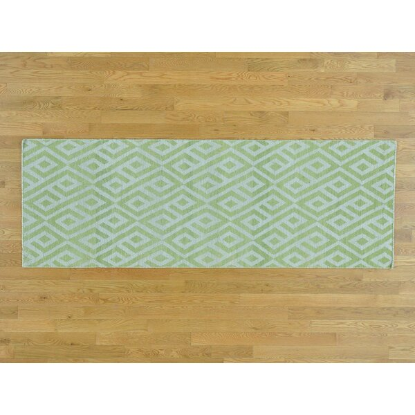 One-of-a-Kind Borchert Reversible Handmade Kilim Ivory Wool Area Rug by Isabelline