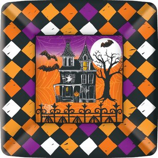 Haunted Halloween Paper Plate Pack (Set of 3) & Lenox Paper Plates | Wayfair