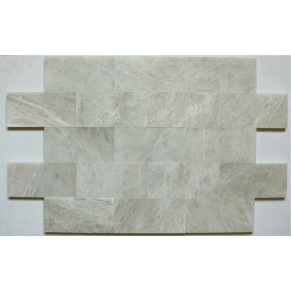 3 x 6 Marble Subway Tile in Iceberg by Ephesus Stones
