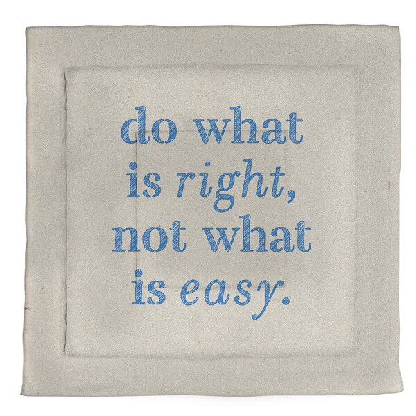 Do What Is Right Single ReversibleComforter