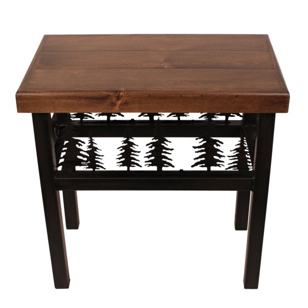 Noelle Elk/Feather End Table by Millwood Pines Millwood Pines