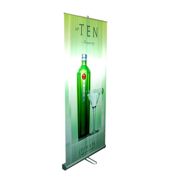 35 - 70 Vertical Adjustable Double-Sided Banner Stand by Pinquist Tool & Die