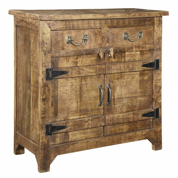 Bardoux Mango Wood Accent Cabinet By World Menagerie