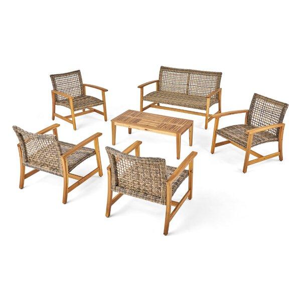 Spann 6 Piece Sofa Seating Group by Bayou Breeze