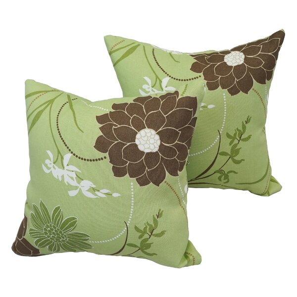 Bansil Outdoor Throw Pillow (Set of 2) by Red Barrel Studio