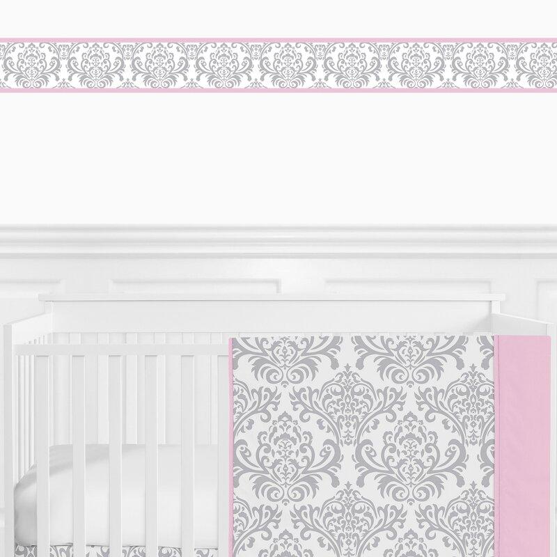 Sweet Jojo Navy and White Trellis Modern Wall Paper Border Room Wallcoverings
