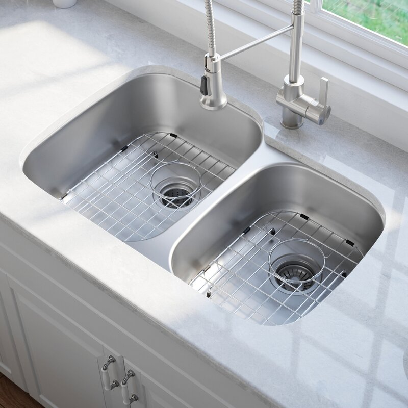 Kraus 32 Quot X 20 Quot Double Basin Undermount Kitchen Sink With