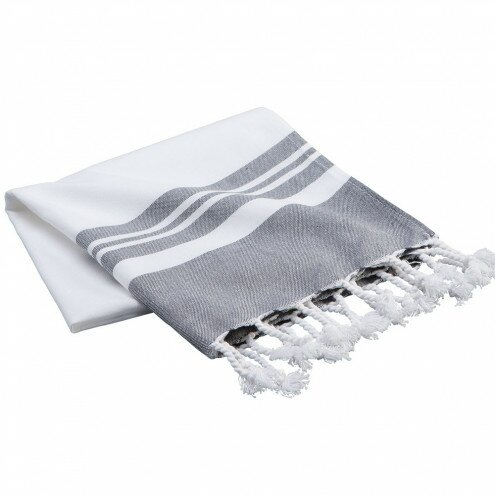 Sandpiper Fringed Turkish Cotton Bath Towel by Rosecliff Heights