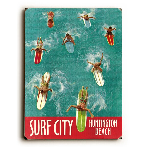Surf City Vintage Advertisement by Artehouse LLC