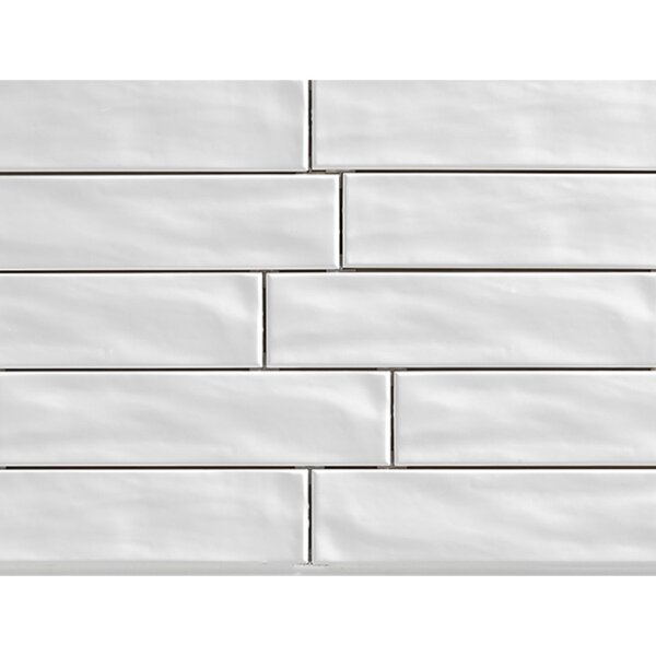 Organic Brick 3 x 12 Porcelain Subway Tile in Ice by Travis Tile Sales