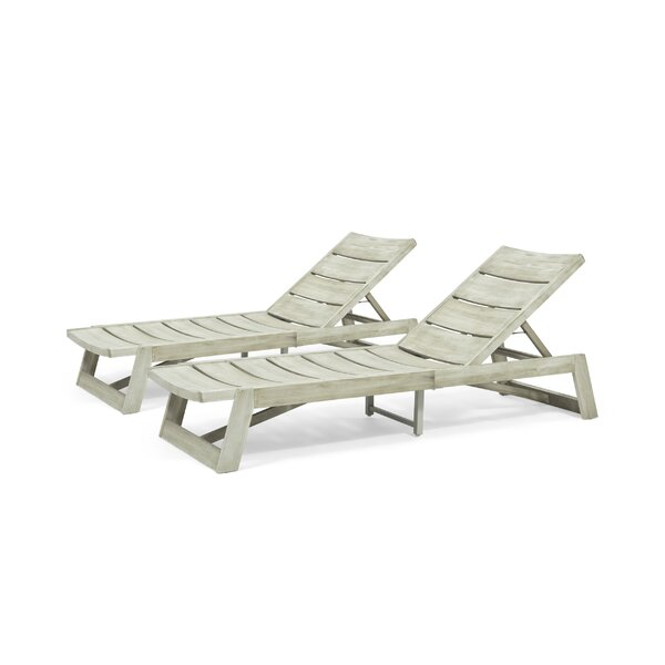 Gavyn Outdoor Reclining Chaise Lounge by Breakwater Bay
