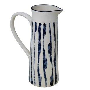 Zakrzewski Ceramic Decorative Texture Pitcher by Bungalow Rose