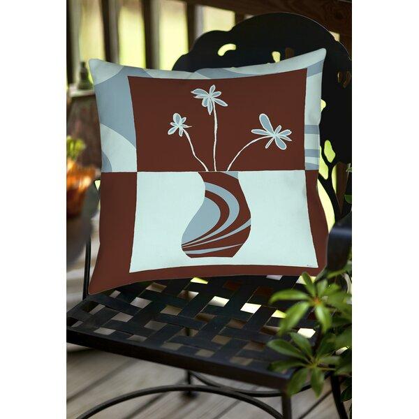 Minimalist Flowers 4 Indoor/Outdoor Throw Pillow by Manual Woodworkers & Weavers