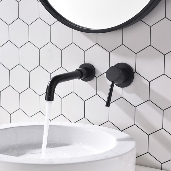 Jeannette Wall Mounted Bathroom Faucet with Optional Drain Assembly by PROOX PROOX