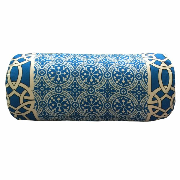 Coutu Bordered Neck Roll Throw Pillow by Bloomsbury Market