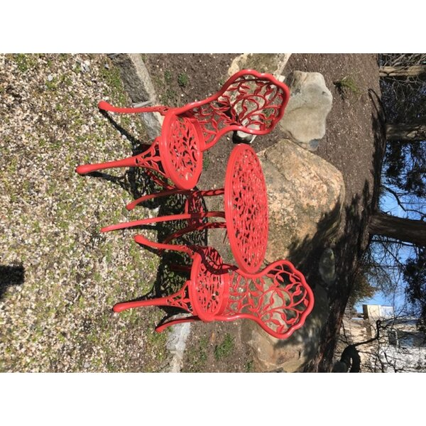 Chicopee 3 Piece Cast Aluminum Bistro Set By Bungalow Rose