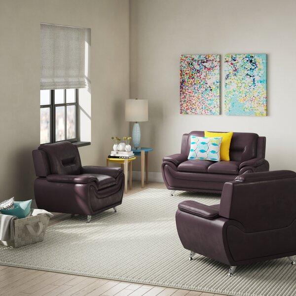 #1 Juliano Modern 3 Piece Living Room Set By Orren Ellis Comparison