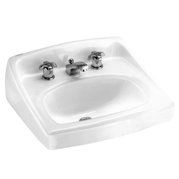 Lucerne Ceramic 21 Wall Mount Bathroom Sink with O