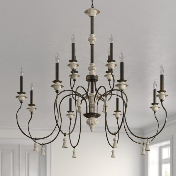 Kanode 12 - Light Candle Style Tiered Chandelier by Ophelia & Co. Ophelia & Co.