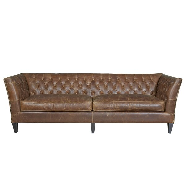 Didcot Leather Chesterfield Sofa by Darby Home Co