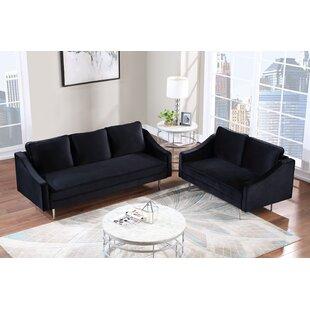 Gobles 2 Piece Velvet Living Room Set by Everly Quinn