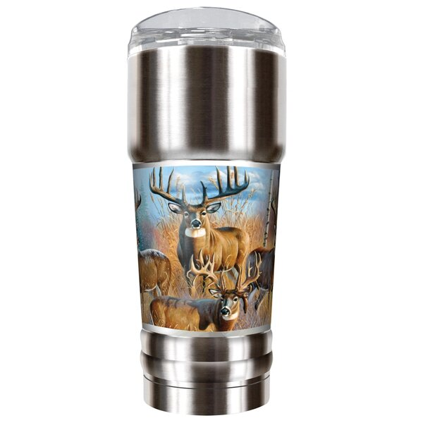 Whitetail Deer Traditions 32 oz. Stainless Steel Travel Tumbler by Great American Products