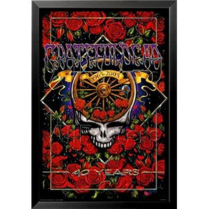 'Grateful Dead 40th Anniversary' Framed Graphic Art by Buy Art For Less