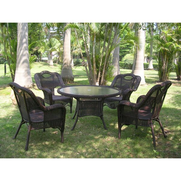 Dominic 5 Piece Patio Dining Set by August Grove