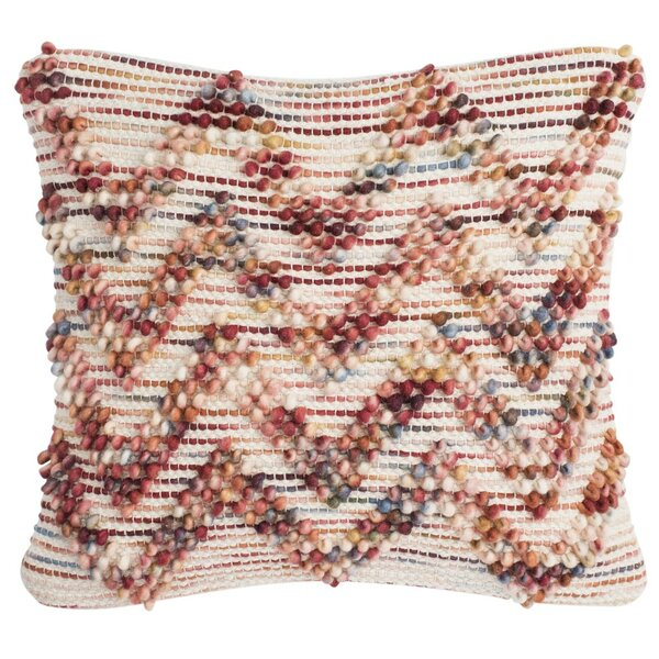 Esme Looped Chevron Throw Pillow by Bungalow Rose